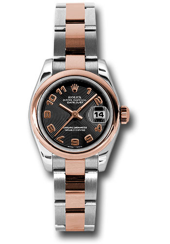 Rolex Watches - Datejust Lady - Steel and Gold Pink Gold - Domed Bezel - Oyster - Style No: 179161 bkcao