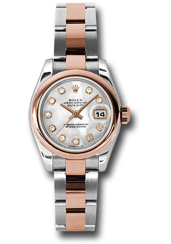 Rolex Watches - Datejust Lady - Steel and Gold Pink Gold - Domed Bezel - Oyster - Style No: 179161 mdo