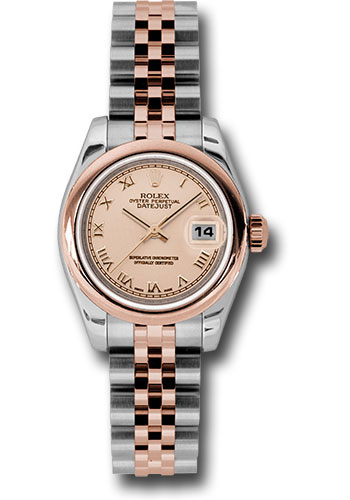 Rolex Watches - Datejust Lady - Steel and Gold Pink Gold - Domed Bezel - Jubilee - Style No: 179161 prj