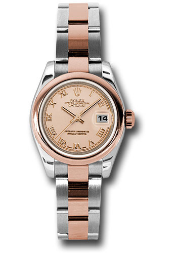 Rolex Watches - Datejust Lady - Steel and Gold Pink Gold - Domed Bezel - Oyster - Style No: 179161 pro