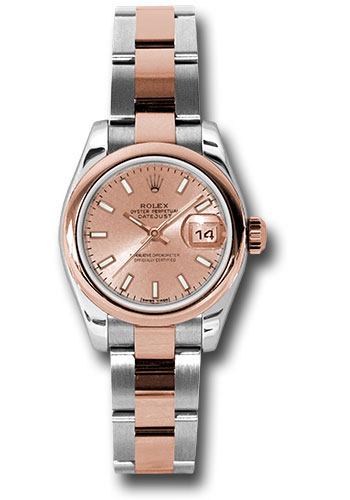 Rolex Watches - Datejust Lady - Steel and Gold Pink Gold - Domed Bezel - Oyster - Style No: 179161 pso
