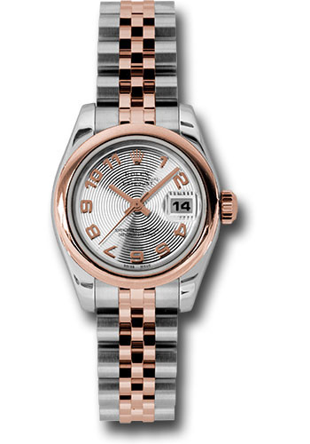 Rolex Watches - Datejust Lady - Steel and Gold Pink Gold - Domed Bezel - Jubilee - Style No: 179161 scaj