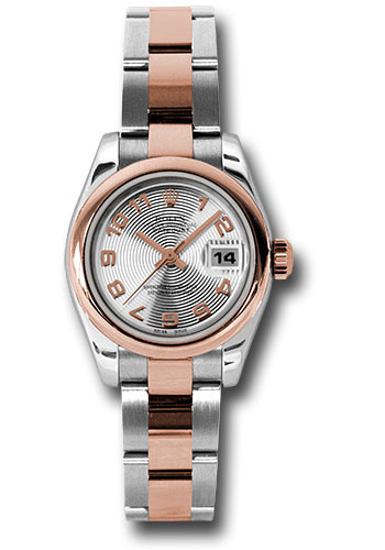 Rolex Watches - Datejust Lady - Steel and Gold Pink Gold - Domed Bezel - Oyster - Style No: 179161 scao
