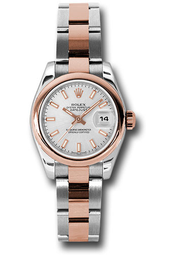 Rolex Watches - Datejust Lady - Steel and Gold Pink Gold - Domed Bezel - Oyster - Style No: 179161 sio