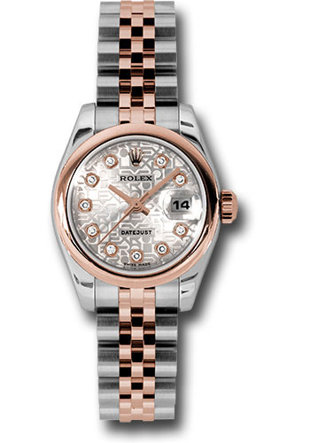 Rolex Watches - Datejust Lady - Steel and Gold Pink Gold - Domed Bezel - Jubilee - Style No: 179161 sjdj