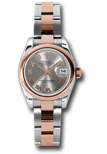 Rolex Watches - Datejust Lady - Steel and Gold Pink Gold - Domed Bezel - Oyster - Style No: 179161 stro