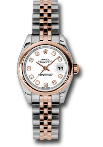Rolex Watches - Datejust Lady - Steel and Gold Pink Gold - Domed Bezel - Jubilee - Style No: 179161 wdj