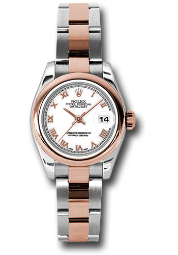 Rolex Watches - Datejust Lady - Steel and Gold Pink Gold - Domed Bezel - Oyster - Style No: 179161 wro