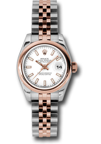 Rolex Watches - Datejust Lady - Steel and Gold Pink Gold - Domed Bezel - Jubilee - Style No: 179161 wsj