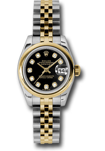 Rolex Watches - Datejust Lady - Steel and Gold Yellow Gold - Domed Bezel - Jubilee - Style No: 179163 bkdj