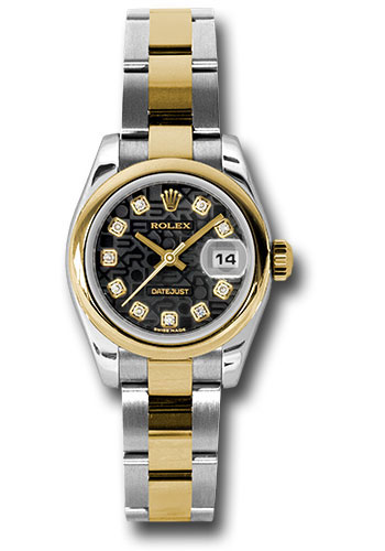 Rolex Watches - Datejust Lady - Steel and Gold Yellow Gold - Domed Bezel - Oyster - Style No: 179163 bkjdo
