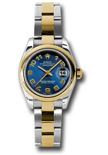 Rolex Watches - Datejust Lady - Steel and Gold Yellow Gold - Domed Bezel - Oyster - Style No: 179163 blcao