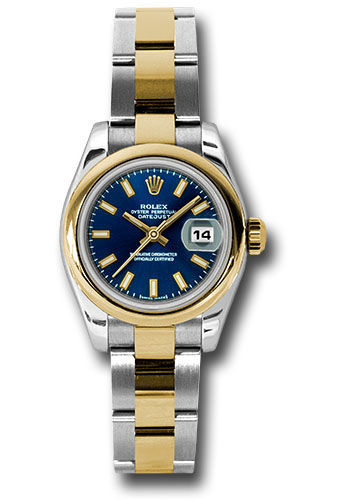 Rolex Watches - Datejust Lady - Steel and Gold Yellow Gold - Domed Bezel - Oyster - Style No: 179163 blso