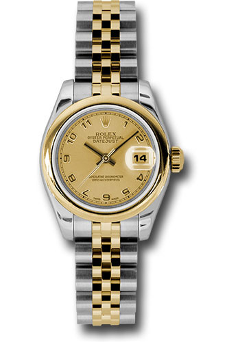 Rolex Watches - Datejust Lady - Steel and Gold Yellow Gold - Domed Bezel - Jubilee - Style No: 179163 chaj