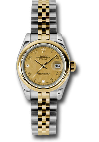 Rolex Watches - Datejust Lady - Steel and Gold Yellow Gold - Domed Bezel - Jubilee - Style No: 179163 chgdmdaj