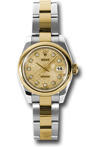 Rolex Watches - Datejust Lady - Steel and Gold Yellow Gold - Domed Bezel - Oyster - Style No: 179163 chjdo