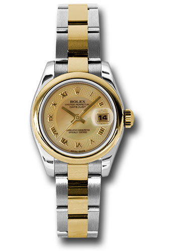 Rolex Watches - Datejust Lady - Steel and Gold Yellow Gold - Domed Bezel - Oyster - Style No: 179163 chmdro