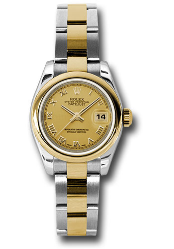 Rolex Watches - Datejust Lady - Steel and Gold Yellow Gold - Domed Bezel - Oyster - Style No: 179163 chro