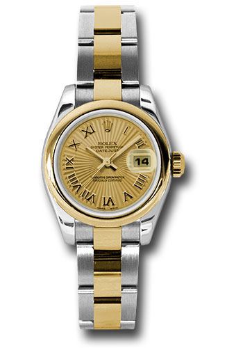 Rolex Watches - Datejust Lady - Steel and Gold Yellow Gold - Domed Bezel - Oyster - Style No: 179163 chsbro
