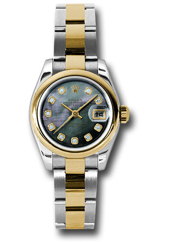 Rolex Watches - Datejust Lady - Steel and Gold Yellow Gold - Domed Bezel - Oyster - Style No: 179163 dkmdo
