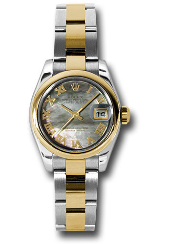 Rolex Watches - Datejust Lady - Steel and Gold Yellow Gold - Domed Bezel - Oyster - Style No: 179163 dkmro
