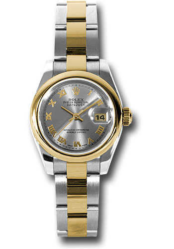 Rolex Watches - Datejust Lady - Steel and Gold Yellow Gold - Domed Bezel - Oyster - Style No: 179163 gro