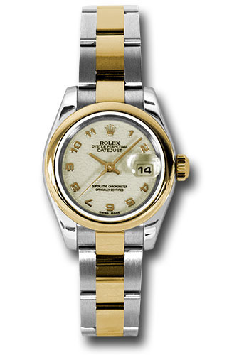 Rolex Watches - Datejust Lady - Steel and Gold Yellow Gold - Domed Bezel - Oyster - Style No: 179163 ijao