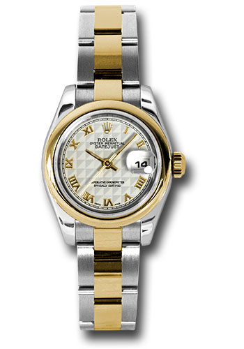 Rolex Watches - Datejust Lady - Steel and Gold Yellow Gold - Domed Bezel - Oyster - Style No: 179163 ipro