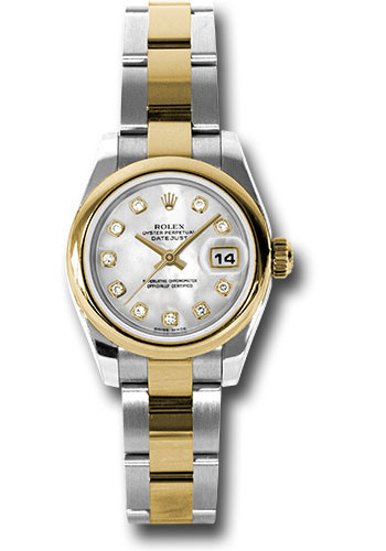Rolex Watches - Datejust Lady - Steel and Gold Yellow Gold - Domed Bezel - Oyster - Style No: 179163 mdo