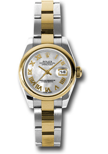 Rolex Watches - Datejust Lady - Steel and Gold Yellow Gold - Domed Bezel - Oyster - Style No: 179163 mro