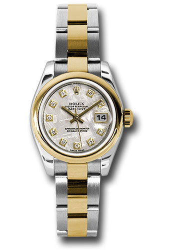Rolex Watches - Datejust Lady - Steel and Gold Yellow Gold - Domed Bezel - Oyster - Style No: 179163 mtdo