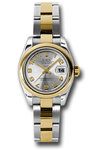 Rolex Watches - Datejust Lady - Steel and Gold Yellow Gold - Domed Bezel - Oyster - Style No: 179163 scao