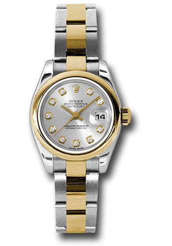 Rolex Watches - Datejust Lady - Steel and Gold Yellow Gold - Domed Bezel - Oyster - Style No: 179163 sdo