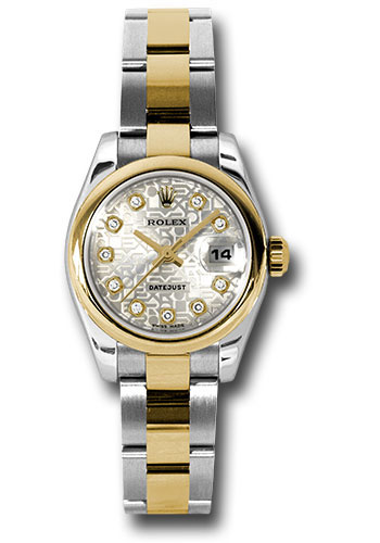 Rolex Watches - Datejust Lady - Steel and Gold Yellow Gold - Domed Bezel - Oyster - Style No: 179163 sjdo