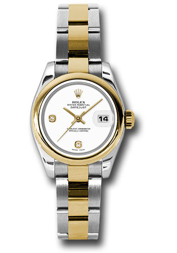 Rolex Watches - Datejust Lady - Steel and Gold Yellow Gold - Domed Bezel - Oyster - Style No: 179163 wado