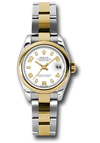 Rolex Watches - Datejust Lady - Steel and Gold Yellow Gold - Domed Bezel - Oyster - Style No: 179163 wao