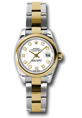 Rolex Watches - Datejust Lady - Steel and Gold Yellow Gold - Domed Bezel - Oyster - Style No: 179163 wdo