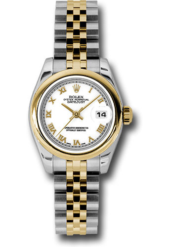 Rolex Watches - Datejust Lady - Steel and Gold Yellow Gold - Domed Bezel - Jubilee - Style No: 179163 wrj