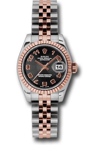 Rolex Watches - Datejust Lady - Steel and Gold Pink Gold - Fluted Bezel - Jubilee - Style No: 179171 bkcaj