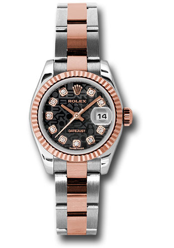 Rolex Watches - Datejust Lady - Steel and Gold Pink Gold - Fluted Bezel - Oyster - Style No: 179171 bkjdo