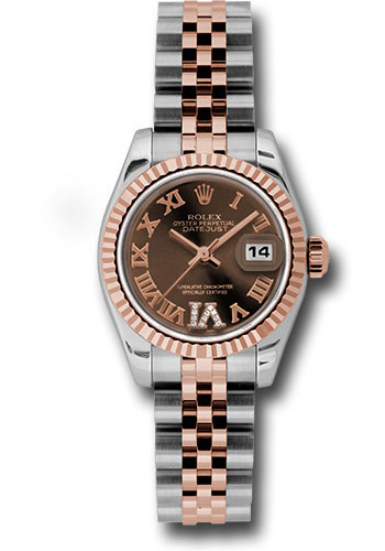 Rolex Watches - Datejust Lady - Steel and Gold Pink Gold - Fluted Bezel - Jubilee - Style No: 179171 chodrj