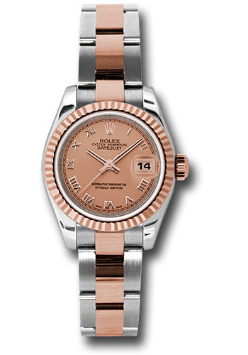 Rolex Watches - Datejust Lady - Steel and Gold Pink Gold - Fluted Bezel - Oyster - Style No: 179171 pro