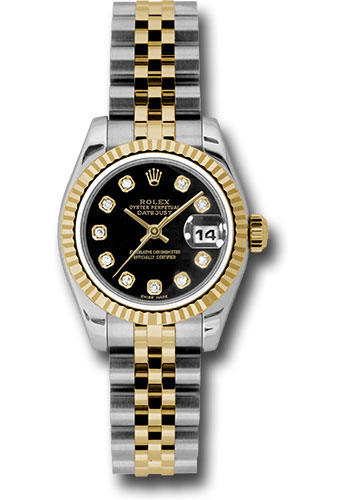 Rolex Watches - Datejust Lady - Steel and Gold Yellow Gold - Fluted Bezel - Jubilee - Style No: 179173 bkdj