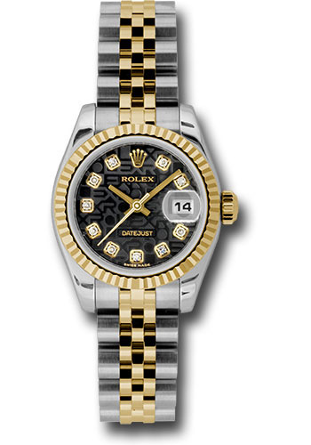 Rolex Watches - Datejust Lady - Steel and Gold Yellow Gold - Fluted Bezel - Jubilee - Style No: 179173 bkjdj