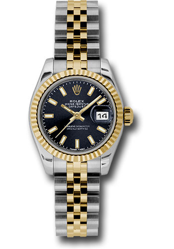 Rolex Watches - Datejust Lady - Steel and Gold Yellow Gold - Fluted Bezel - Jubilee - Style No: 179173 bksj