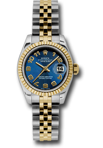Rolex Watches - Datejust Lady - Steel and Gold Yellow Gold - Fluted Bezel - Jubilee - Style No: 179173 blcaj