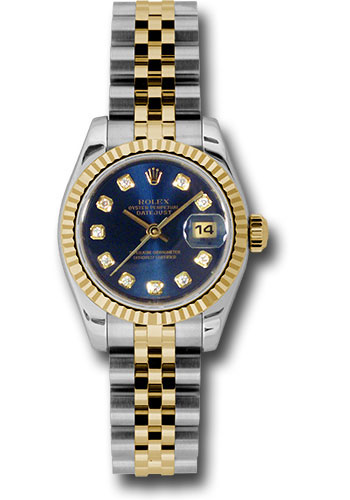 Rolex Watches - Datejust Lady - Steel and Gold Yellow Gold - Fluted Bezel - Jubilee - Style No: 179173 bldj