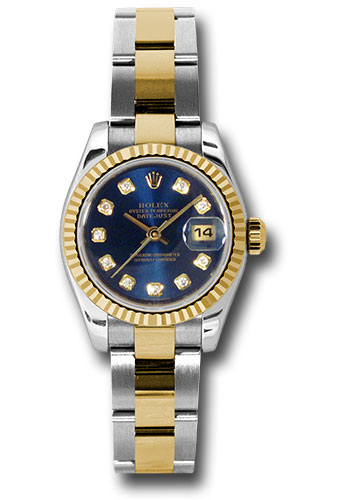 Rolex Watches - Datejust Lady - Steel and Gold Yellow Gold - Fluted Bezel - Oyster - Style No: 179173 bldo