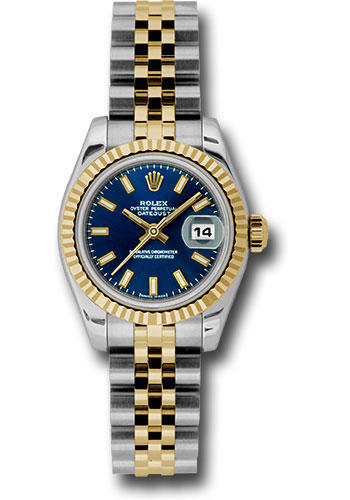 Rolex Watches - Datejust Lady - Steel and Gold Yellow Gold - Fluted Bezel - Jubilee - Style No: 179173 bsj