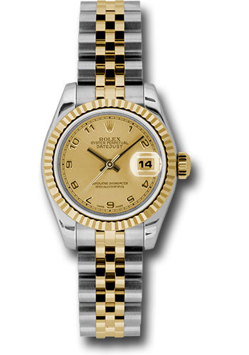 Rolex Watches - Datejust Lady - Steel and Gold Yellow Gold - Fluted Bezel - Jubilee - Style No: 179173 chaj